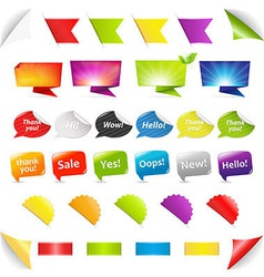 Big Set Stickers And Ribbons vector image vector image