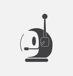 Black icon on white background space helmet with vector