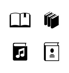 books simple related icons vector image vector image