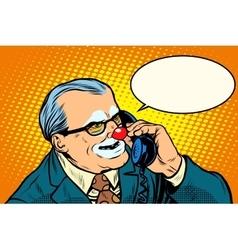 Boss clown on the phone vector