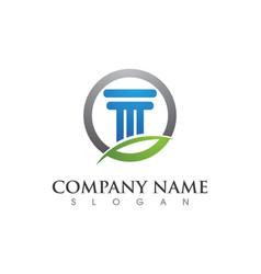 Column logo template vector