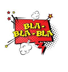 Comic speech chat bubble pop art style bla vector