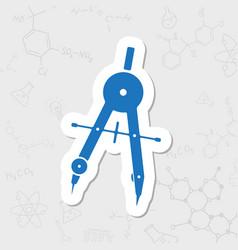 Compasses icon vector