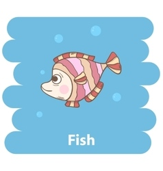 Cute cartooon fish vector