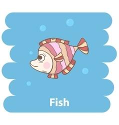 Cute cartooon Fish vector image vector image