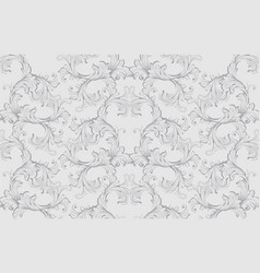 damask baroque pattern background ornament decor vector image vector image