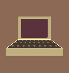 flat icon on theme arabic business suitcase of vector image