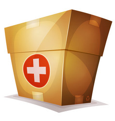 Funny medicine box for ui game vector
