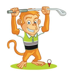 Golf monkey cartoon vector