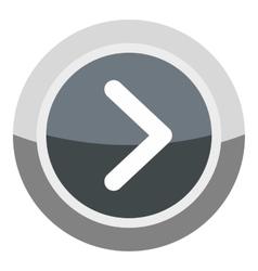 Gray round button icon cartoon style vector