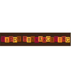 Happy thanksgiving typography banner vector