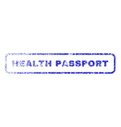 Health passport rubber stamp vector