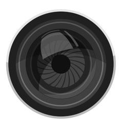 Lens for camera icon gray monochrome style vector