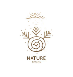 logo autumn nature vector image vector image