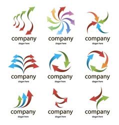 Logo colored arrows vector