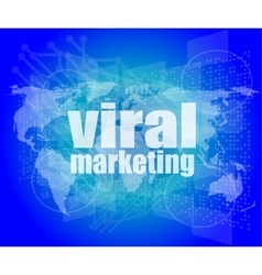 Marketing concept words Viral Marketing on vector image