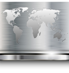 metal map vector image vector image
