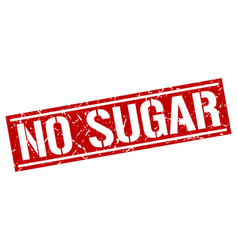 No sugar square grunge stamp vector