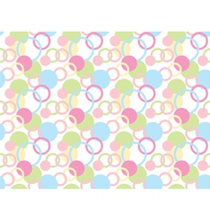pattern made of rings and circles vector image