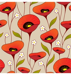 Poppies background vector