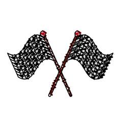 Racing flag doodle vector