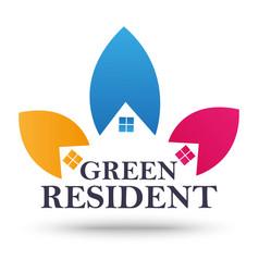 real estate sign and symbol design vector image