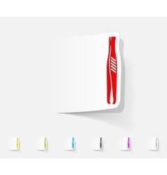 realistic design element tweezers vector image