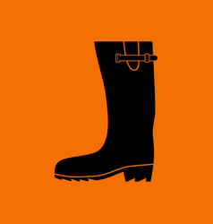 rubber boot icon vector image