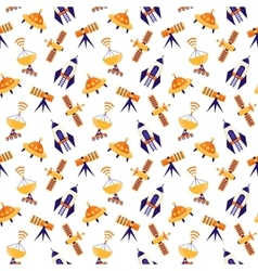 Seamless cute space pattern vector
