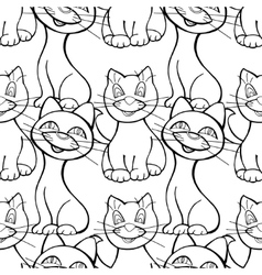 Seamless pattern of cats vector image vector image