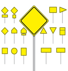 set of blank road sign vector image