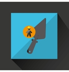 Silhouette man and wrench icon design vector