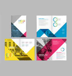 Template design layoutbrochure design vector