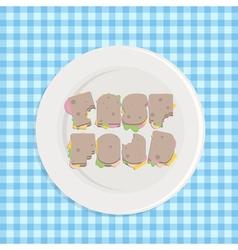 Typographic sandwiches vector