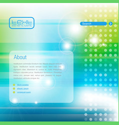 web template vector image vector image