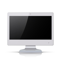 White monitor isolated on white background vector image vector image