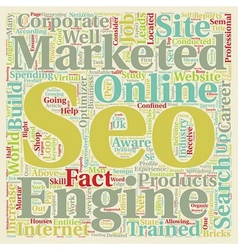Why Should I Consider A Career In Seo text vector image