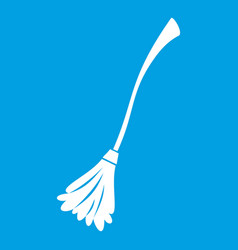 Witches broom icon white vector