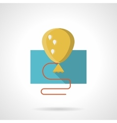 Yellow balloon with shadow flat icon vector image vector image