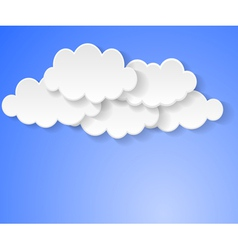 Clouds bubbles vector