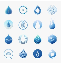 Drops - logo templates set - design elements vector
