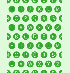 seamless pattern with geometric shapes and letter vector image