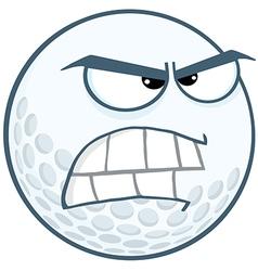 Angry Golf Ball Cartoon Character vector image
