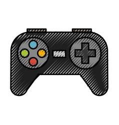 scribble control game cartoon vector image