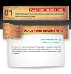 Wood-texture infographic template vector