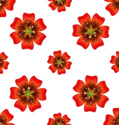 Beautiful orange flower seamless floral pattern vector