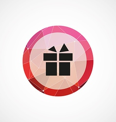 Gift circle pink triangle background icon vector