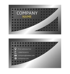 silver card vector image