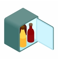 Mini fridge isometric 3d icon vector