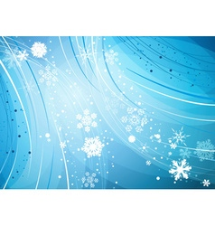 Snowy Romantic Christmas Background vector image